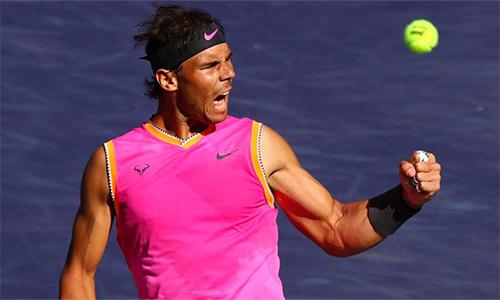 Nadal từng thua chóng vánh Federer tại Indian Wells cách đây hai năm. Ảnh: Sky.