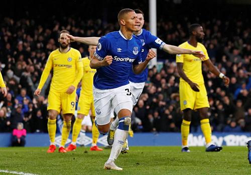Richarlison nối dài thành tích ghi bàn ấn tượng ở Everton. Ảnh: Reuters.