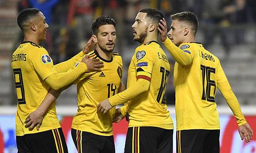 Bỉ vẫn duy trì được sức mạnh giống những gì từng thể hiện ở World Cup 2018. Ảnh: AP.