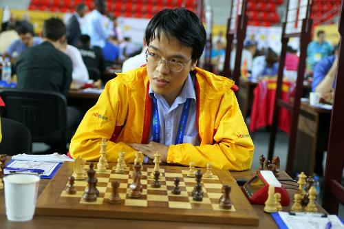 Quang Liêm là Siêu đại kiện tướng duy nhất toàn thắng hai ván đầu tại giải.