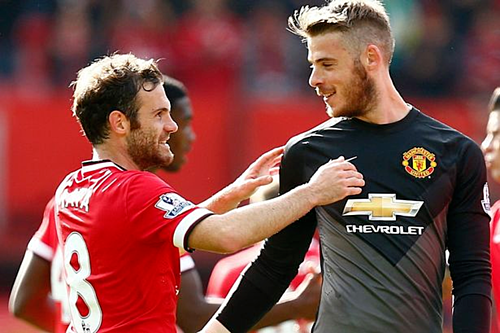 Mata và De Gea cũng là những trường hợp chưa thể gia hạn của Man Utd. Ảnh:AFP.