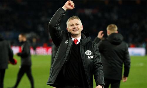 Solskjaer được Man Utd ký hợp đồng dài hạn sau bốn tháng dẫn dắt CLB rất thành công. Ảnh: Reuters.