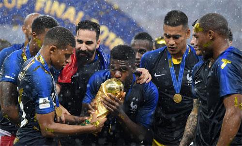 Umtiti góp công giúp Pháp giành World Cup 2018. Ảnh: Reuters