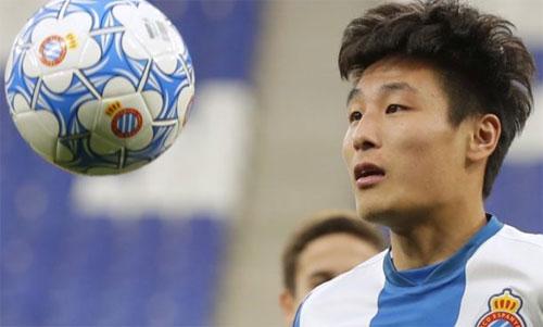 Wu Lei có một bàn trong bảy trận chơi cho Espanyol. Ảnh: Reuters