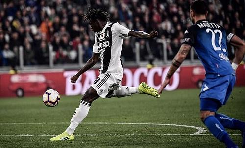 Kean ghi bàn sau khi được tung vào sân ba phút. Ảnh: AFP.