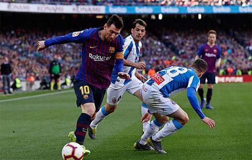Messi vẫn là ác mộng của Espanyol,