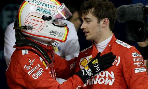 Leclerc gây ấn tượng với sự điềm tĩnh tại GP Bahrain. Ảnh: AP.
