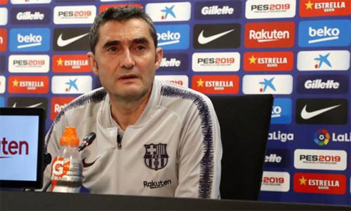 Valverde muốn sớm dứt điểm cuộc đua La Liga. Ảnh: Marca