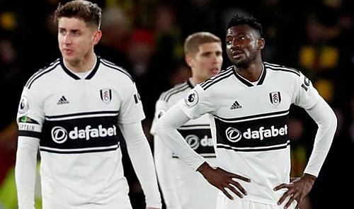 Fulham để thủng lưới 76 bàn và giành vỏn vẹn hai điểm trên sân khách sau 33 vòng Ngoại hạng Anh. Ảnh: AFP.