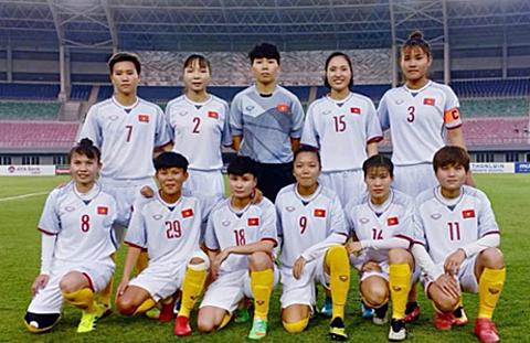 Tuyển nữ Việt Nam có khởi đầu thuận lợi ở vòng loại thứ hai Olympic 2020. Ảnh: VFF.