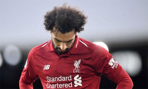 Salah không còn là ngôi sao xuất sắc như mùa trước. Ảnh: Reuters