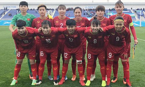 Tuyển nữ Việt Nam thắng Uzbekistan ở vòng loại Olympic