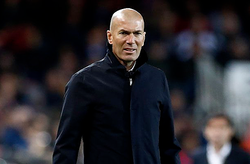 Zidanehài lòng với tinh thần của cầu thủ Real. Ảnh:AFP.