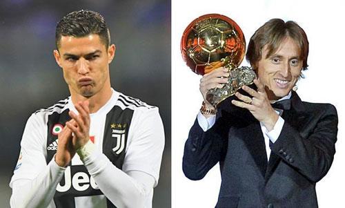 Ronaldo ghi nhiều bàn quyết định cho Real nhưng không giành được Quả Bóng Vàng, trái với những gì diễn ra với Modric.
