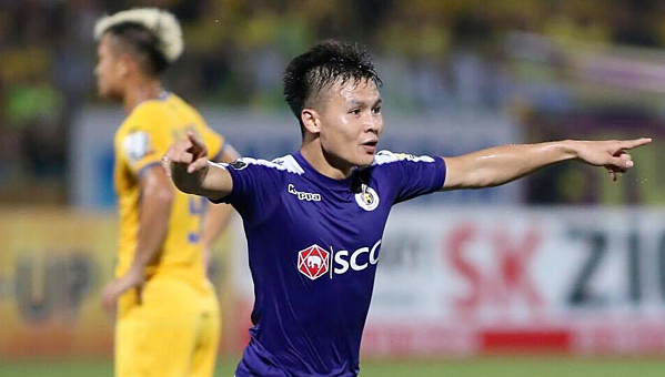 Đây là bàn thắng đầu tiên của Hải con ở V-League 2019. Ảnh: Lâm Thỏa.