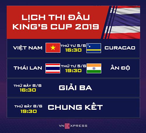 Việt Nam gặp Curacao ở trận ra quân Kings Cup 2019