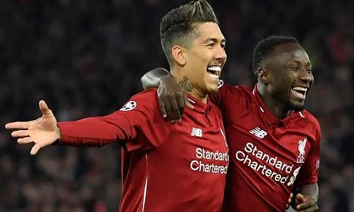 Firmino và Keita giúp Liverpool nắm lợi thế dẫn hai bàn ở lượt về. Ảnh: AFP.