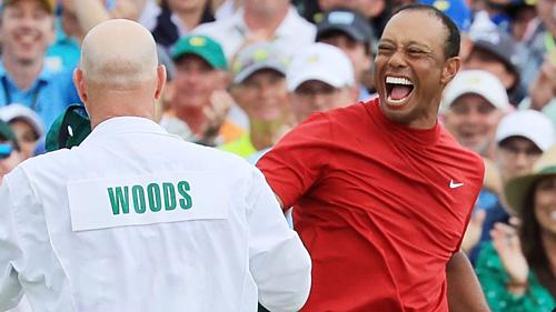 Tiger Woods tìm lại sự tự tin sau chức vô địch Masters. Ảnh:Sky.
