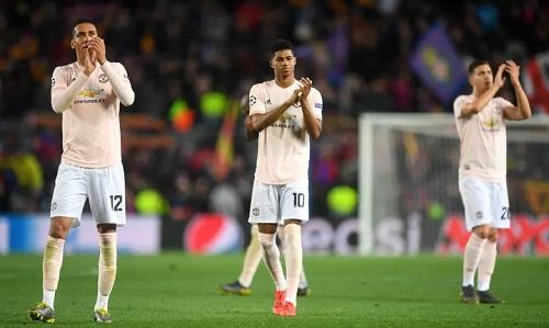 Man Utd chưa đủ năng lực để đối đầucác đội bóng hàng đầu châu Âu lúc này. Ảnh: AFP.