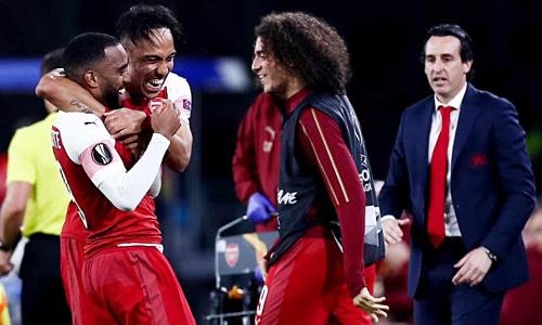 Arsenal đang có cơ hội lớn giành chức vô địch châu lục đầu tiên sau 25 năm. Ảnh: Rex.