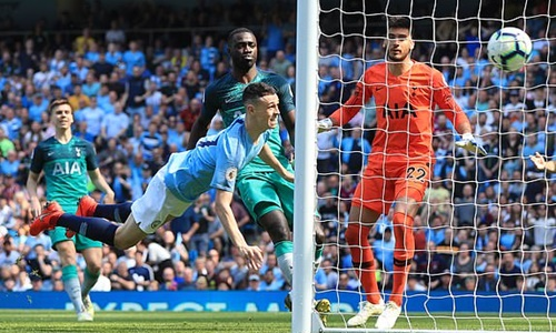 Man City rửa hận Tottenham khi trở lại Ngoại hạng Anh - ảnh 1