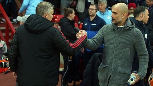 Guardiola toàn thắng ở Old Trafford, trong khuôn khổ Ngoại hạng Anh, kể từ khi dẫn dắt Man City. Ảnh: PA.
