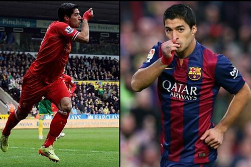 Suarez sẽ lần đầu gặp lại đội bóng cũ kể từ khi rời Anfield năm 2014. Ảnh: Sky.