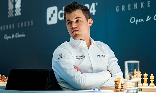 Carlsen đang có Elo 2.875, cao hơn kỳ thủ số hai thế giới Caruana 56 điểm. Ảnh: Chess.com.