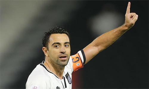 Xavi trong những tháng ngày cuối cùng chơi bóng, cùng Al Sadd.