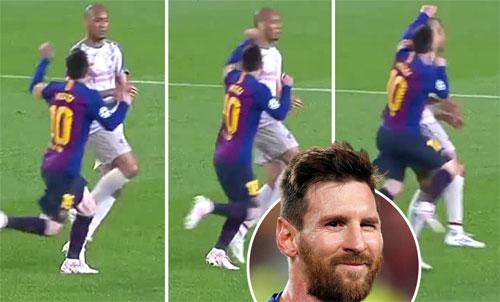 Tình huống được cho là Messi đấm Fabinho.