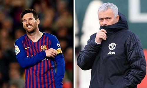 Mourinho ngả mũ khi Messi tỏa sáng giúp Barca thắng Liverpool 3-0 trên sân nhà Nou Camp. Ảnh: Standard.