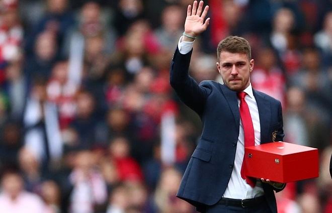 Ramsey rơi nước mắt trong ngày chia tay Arsenal