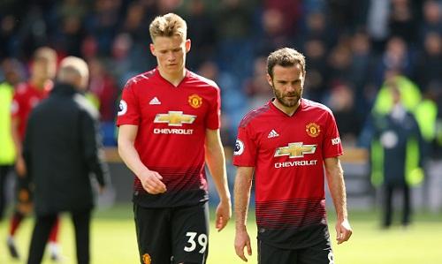 Các cầu thủ Man Utd bị chỉ trích là thiếu tinh thần thi đấu. Ảnh: Reuters.