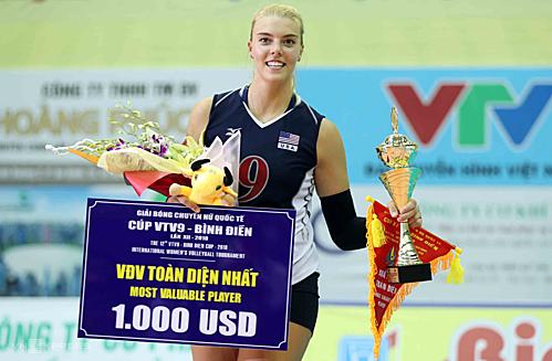 Holly Toliver (BIP) mùa trước đoạt giải VĐV hay nhất, năm nay cô khoác áo một CLB Việt Nam. Ảnh: Đức Đồng.