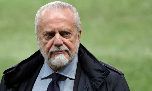 De Laurentiis muốn chỉ có một Cup châu Âu. Ảnh: Reuters