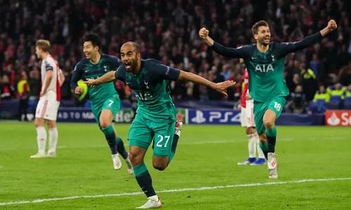 Ba bàn thắng của Lucas giúp Tottenham lần đầu vào chung kết Champions League. Ảnh: AMA.