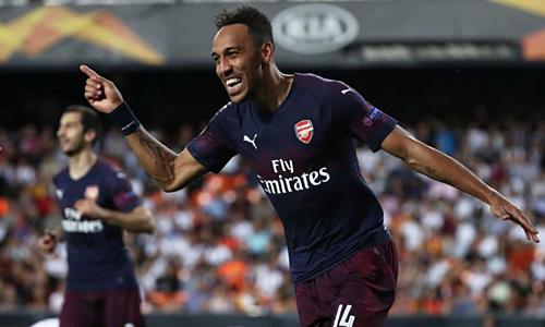 Aubameyang trở thành người hùng cho Arsenal. Ảnh: Reuters.