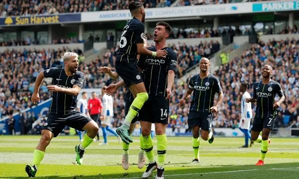 Man City thắng đậm Brighton, không cho Liverpool cơ hội qua mặt họ. Ảnh: Guardian.