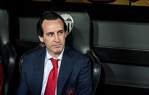 Emery là nhà cầm quân thành công nhất lịch sử Europa League. Ảnh:AFP.