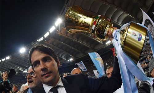 HLV 43 tuổi Simone Inzaghi có danh hiệu thứ hai sau Siêu Cup Italy năm 2017.