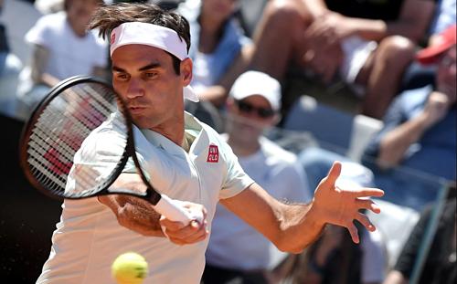 Federer thắng trận đầu tiên tại Rome sau ba năm. Ảnh:AFP.