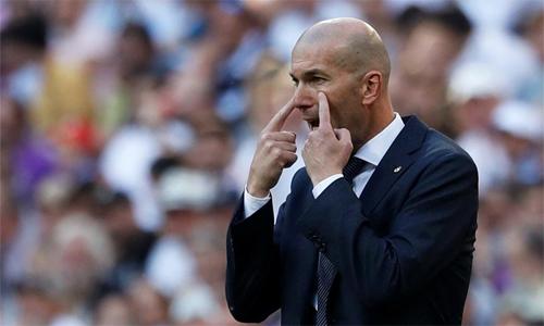 Zidane có trọng trách nặng nề khi trở lại Real. Ảnh:AFP.