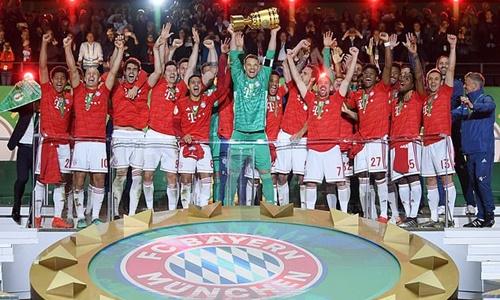 Bayern có lần thứ 12 giành cú đúp trong lịch sử. Ảnh: Reuters.