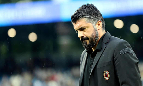 Dưới sự dẫn dắt của Gattuso, Milan đạt trung bình 1,81 điểm mỗi trận. Thành tích đó chỉ kém Juventus (2,44 điểm/trận) và Napoli (2,13) vào cùng kỳ. Ảnh: EPA.