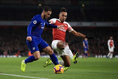 Eden Hazard và Aubameyang là hai ngôi sao đáng chú ý nhất ở chung kết. Ảnh:AFP.