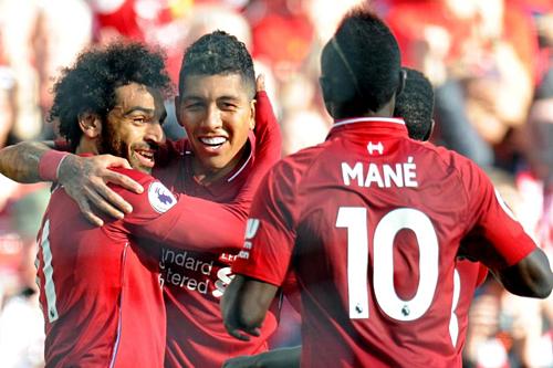 Hàng công Liverpool bùng nổ khi không còn Coutinho. Ảnh: AFP.