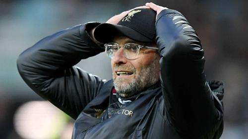 Klopp đã bốn lần về nhì cùng Liverpool ở Ngoại hạng Anh, Cup liên đoàn, Europa League và Champions League. Ảnh:AFP.