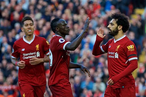 Ba chân sút của Liverpool đã ghi tổng 68 bàn ở mùa này. Ảnh: AFP.