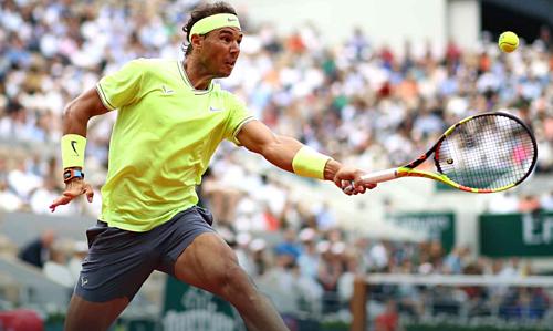 Nadal chỉ mắc 13 lỗi tự đánh bóng hỏng trận này. Ảnh: ATP.