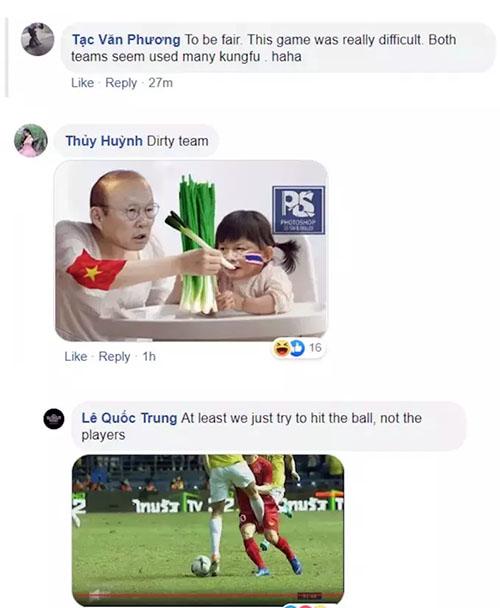 Những chỉ trích của người hâm mộ Việt Nam nhằm vào Thái Lan sau trận đấu tối 5/6 trong khuôn khổ Kings Cup.